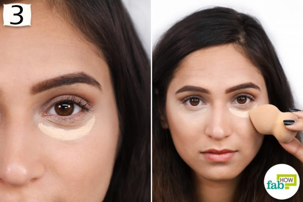 apply concealer on the foundation