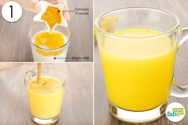 mix turmeric powder in milk