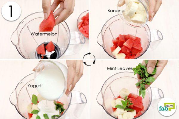 add ingredients to blender