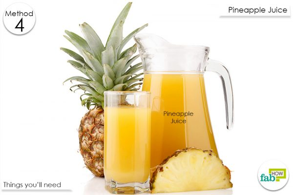 pineapple juice for post nasal drip