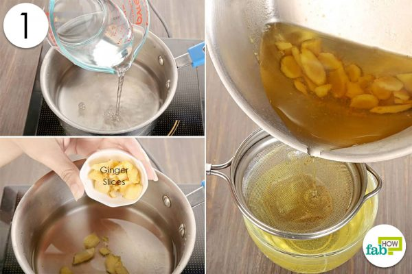boil ginger in water and strain