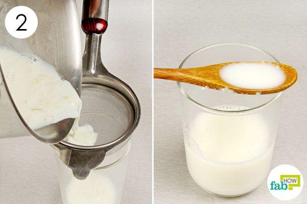 strain and drink milk