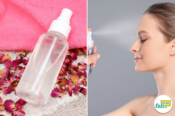 apply rose water face mist